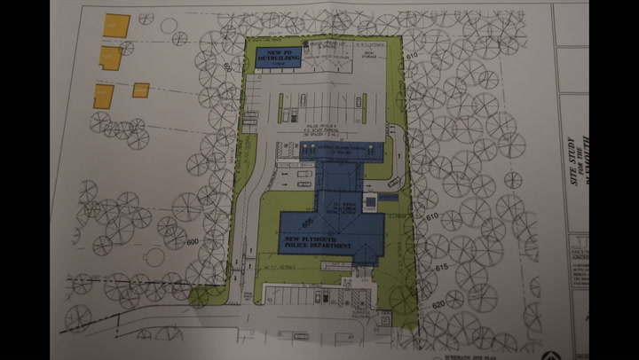 Plymouth Police are looking to build a new department building on the property located behind Town Hall.